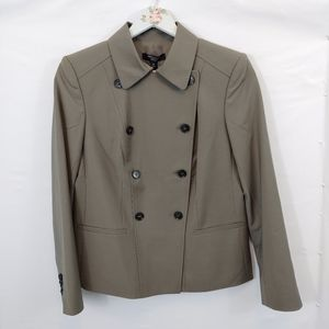 Ann Taylor Suit Jacket 6 P Taupe Tropical Wool